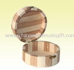 Personalized Round Jewelry Box