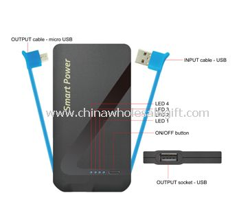 2-in-1 power bank for smartphone