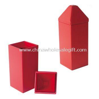 Pu Leather Cover High Gloss Pain Wood Wine Box