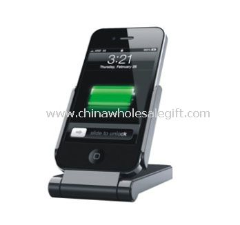 External Battery and Desktop Stand for iPhone and iPod