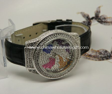 Leather strap Jewelry watch