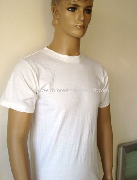white blank cotton t-shirts For Men