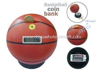 Basketball Counting Coin Bank