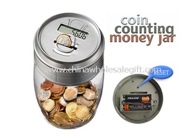 Clear Coin Counting Money Jar