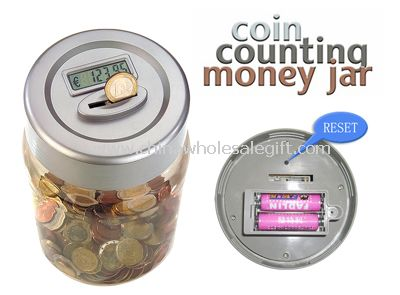 LCD Display Coin Counting Money Jar