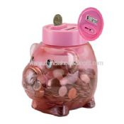 Pig shape Coin Counting Piggy Bank images