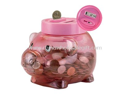 Pig shape Coin Counting Piggy Bank