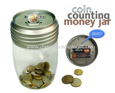 Transparent Coin counting Money Jar