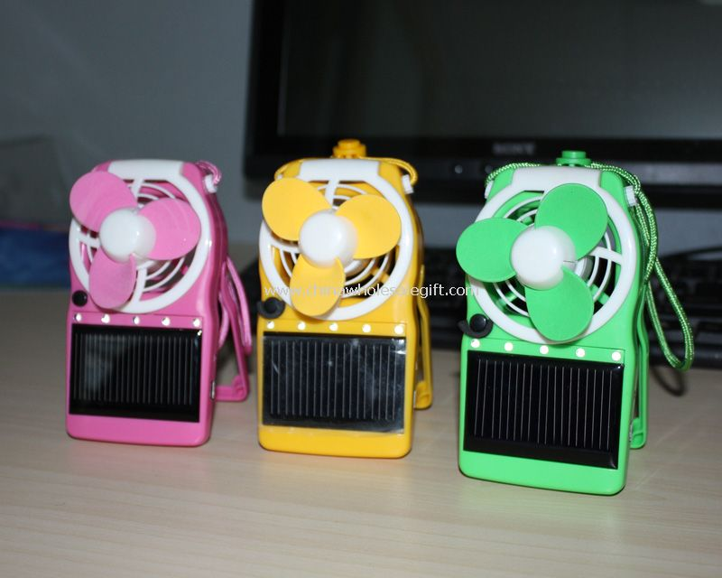 Mini portable travelling Solar Fan with led light