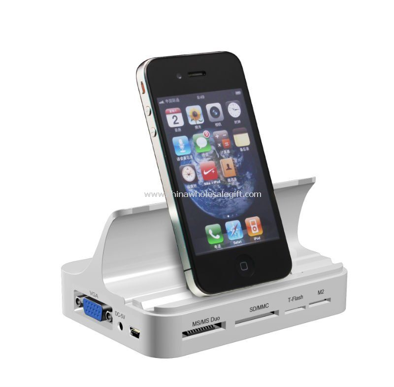 all in one docking charger data station for ipad ipad 2 ipod iphone ipad docking station. Black Bedroom Furniture Sets. Home Design Ideas