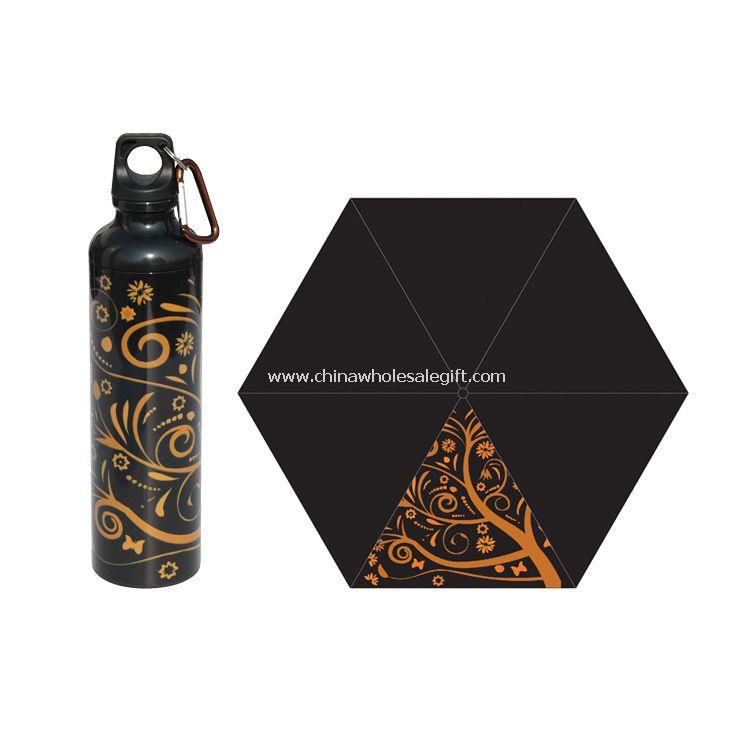 Black art bottle umbrella