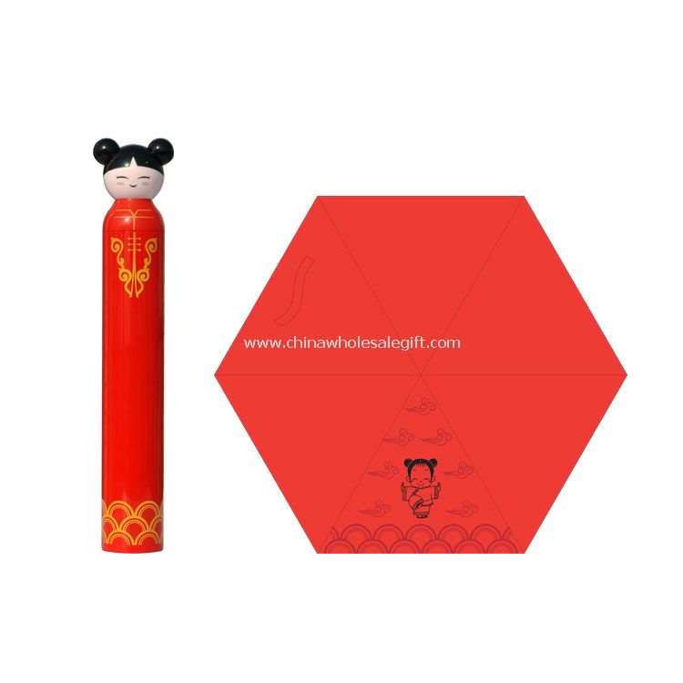 China Girl Cartoon Umbrella