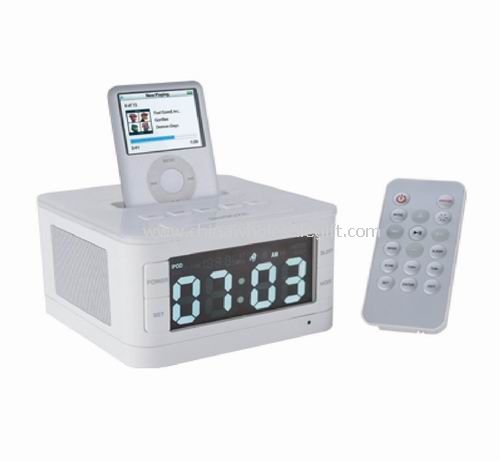 iPod/iPhone Radio Alarm Clock speaker