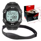 Wireless heart rate watch with chest belt images