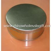 Silver Round Tin Box images