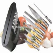 stainless steel handle knife set images