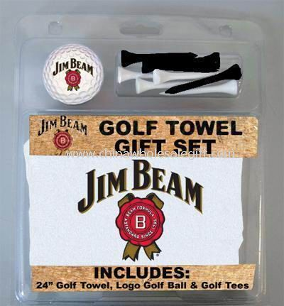 Golf Gift Set with Golf Towel