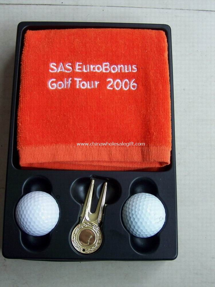 Golf Gift Set with Golf Towel and Divot Tool And Golf Ball