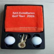 Golf Gift Set with Golf Towel and Divot Tool And Golf Ball images