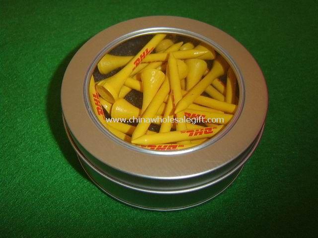 Tin Box Golf Tee Pack