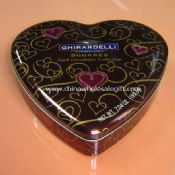 Chocolate Heart Shaped Tin Box images