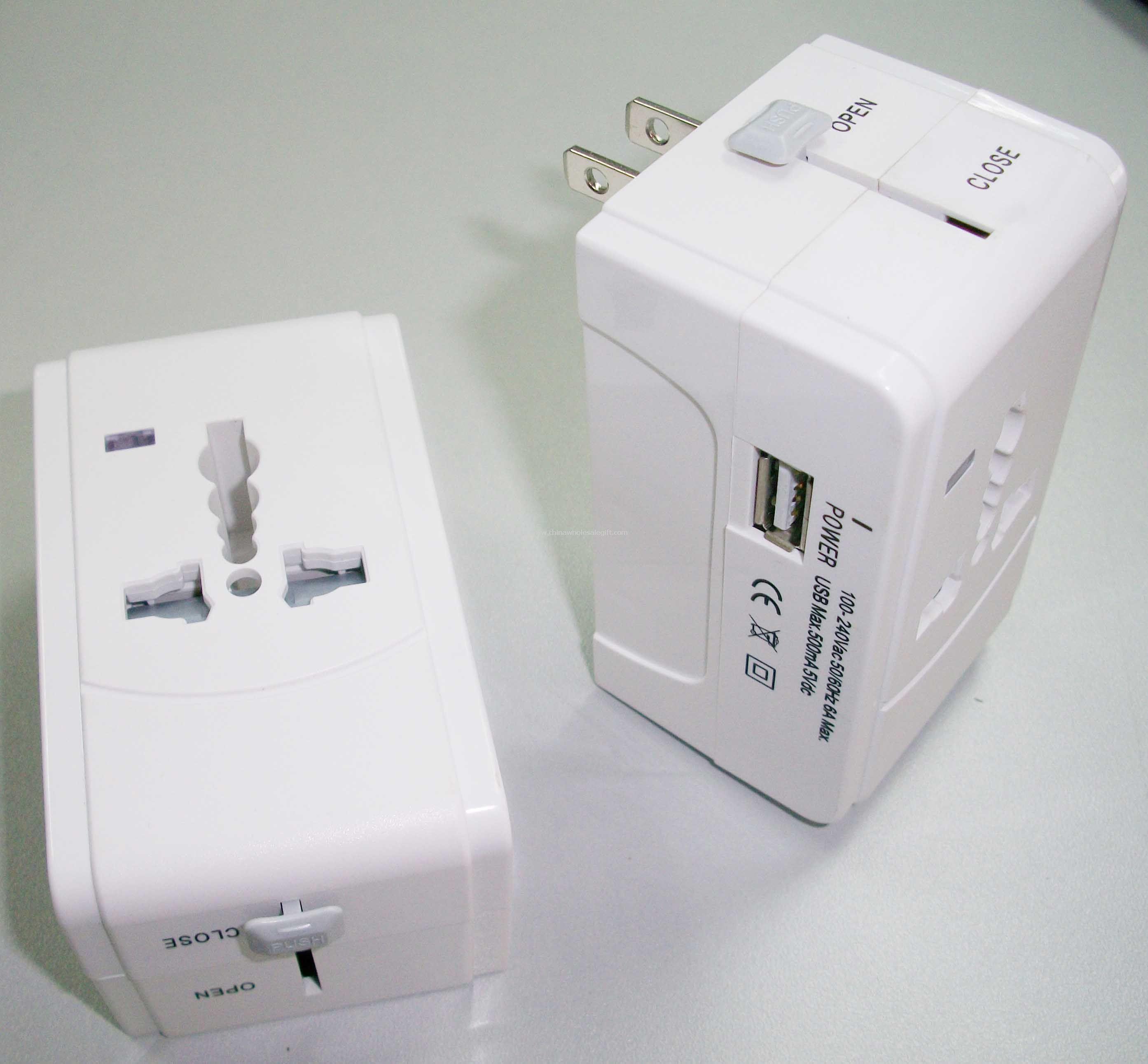 adaptador seguro dupla com carregador USB