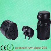 Swiss worldwide travel adaptor with USB Output images