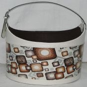 leather Round shopping basket images