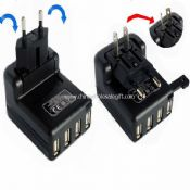 Four USB changer universal adaptor plug images
