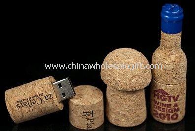 Drewniane kształt butelki USB błysk przejażdżka