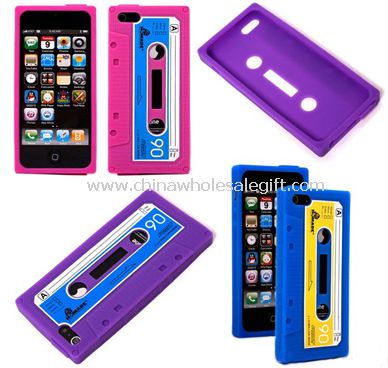 iPhone5 silicon case with tape shape