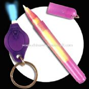 UV Ink Pen with Mini Keychain Torch images