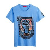Mens 100% Cotton Short Sleeve Silkscreen Print T Shirt images