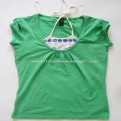 Womens 95 Cotton 5 Spandex Short Sleeve T Shirts images