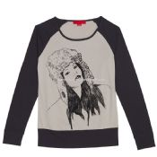 Womens Long Sleeve Cotton Printing T-shirt images
