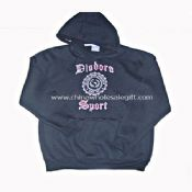 Mens Cotton and Polyester Hooded Sweatshirt images