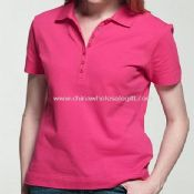 Womens High Quality Cotton and Spandex Polo Shirt images