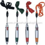 Multi-color pen with lanyard images