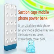 Mobile phone suction cup power bank images