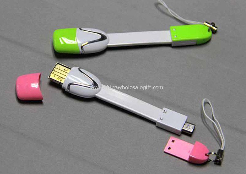 Drive USB cartão leitor dados cabo móvel correia