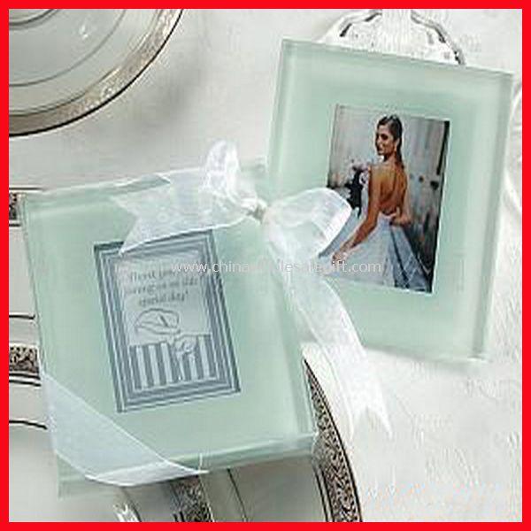 glass photo coaster