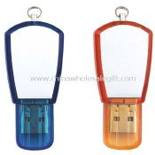 Plastic USB Flash Drive with Keychain images
