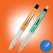 Metal LED light ballpoint pen images