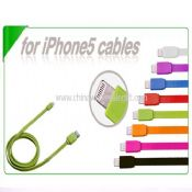 Colorful flat cable for iPhone 5 with lighting connector images