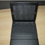 Bluetooth Keyboard with Leather Case for iPad2 images