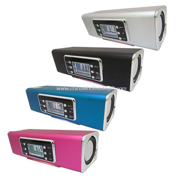 Portable speaker with TF/USB/LINE/MP3/WMA Dual decoder/FM/Screen