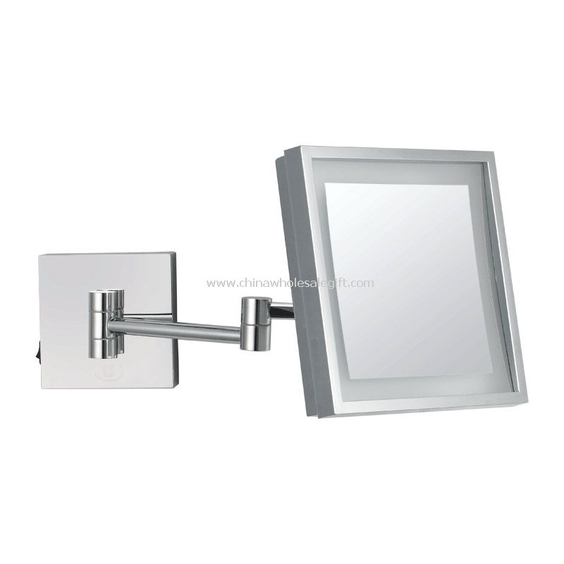 led light Wall mounted square mirror