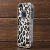 Luxury Deluxe Leopard Bling Hard Case Film For iPhone5 images