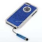 Glitter Bling Crystal Diamond Chrome Hard Case For iPhone5 with Stylus images