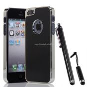 Luxury Black Brushed Metal Aluminum Chrome Hard Case For iPhone 5 with Stylus Pen images